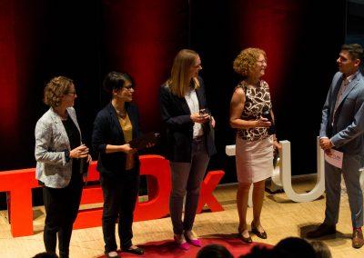 TEDxTUMSalon19 - Speakers on stage